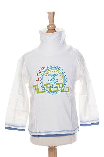 T-shirt manches longues blanc LA TRIBBU pour garçon