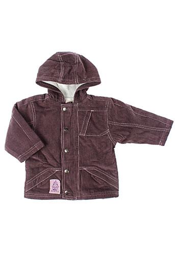 la tribbu manteaux fille de couleur violet
