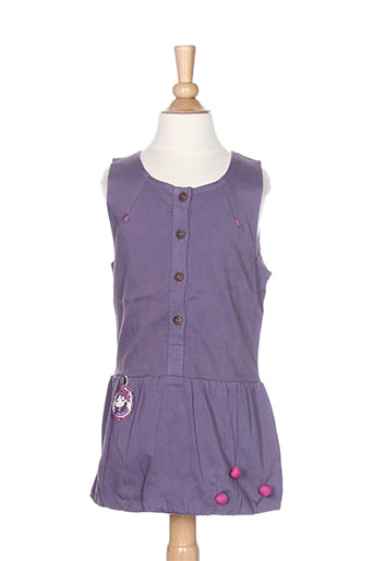 la tribbu robes fille de couleur violet