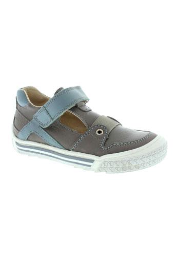 la tribbu chaussures garçon de couleur gris
