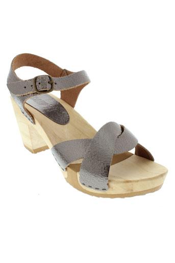bosabo sandales et nu et pieds femme de couleur gris