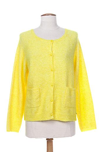 des et petits et hauts cardigans femme de couleur jaune