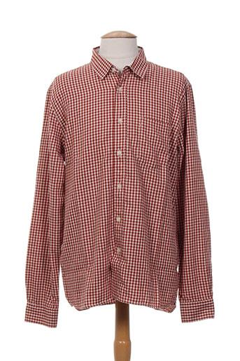 nudie jeans co chemises homme de couleur rouge