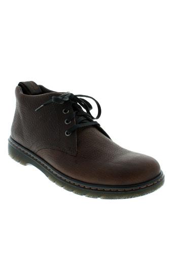 dr et martens boots homme de couleur marron