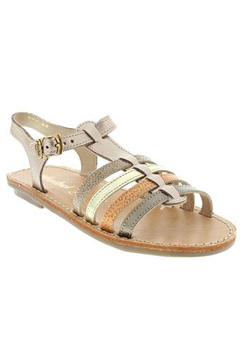 minibel chaussures fille de couleur orange