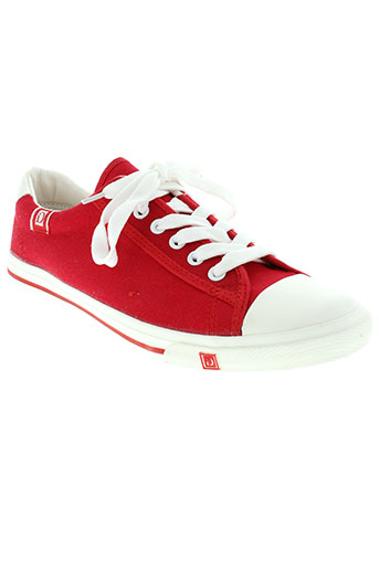 ideal et shoes baskets homme de couleur rouge