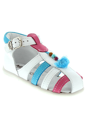 minibel chaussures fille de couleur blanc