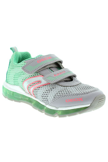 geox chaussures fille de couleur vert