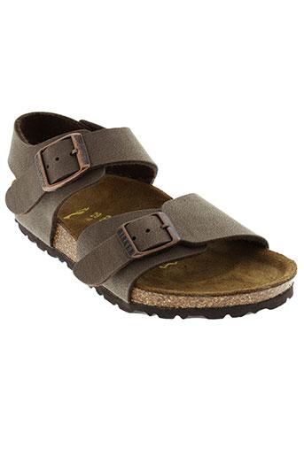 birkenstock chaussures garçon de couleur marron
