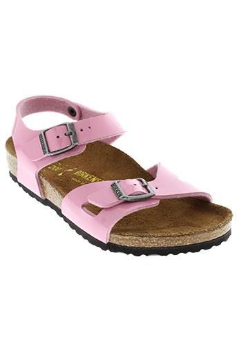 birkenstock chaussures fille de couleur rose