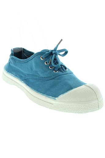 bensimon chaussures enfant de couleur bleu