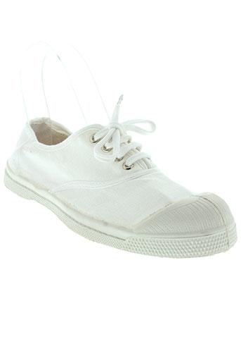 bensimon chaussures enfant de couleur blanc