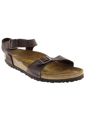birkenstock sandales et nu et pieds femme de couleur marron