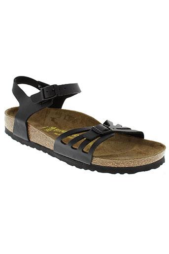 birkenstock sandales et nu et pieds femme de couleur noir