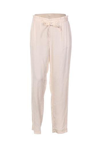 laura et jo pantalons et citadins femme de couleur beige
