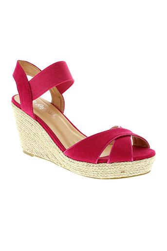 refresh sandales et nu et pieds femme de couleur rose