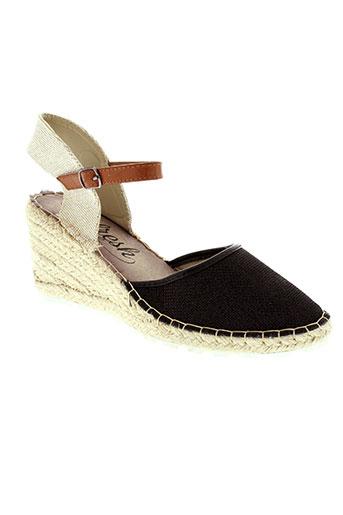 refresh sandales et nu et pieds femme de couleur noir