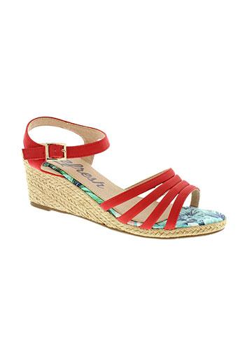 refresh sandales et nu et pieds femme de couleur rouge