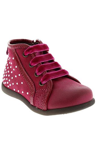 stones and bones chaussures fille de couleur rose