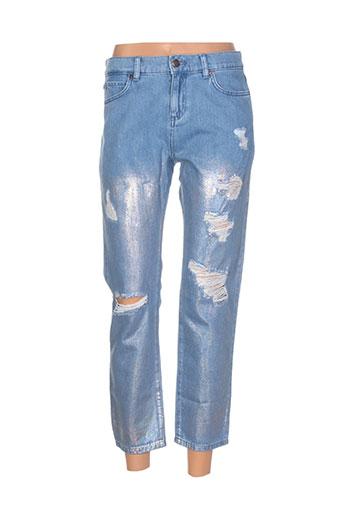 sisley pantalons femme de couleur bleu