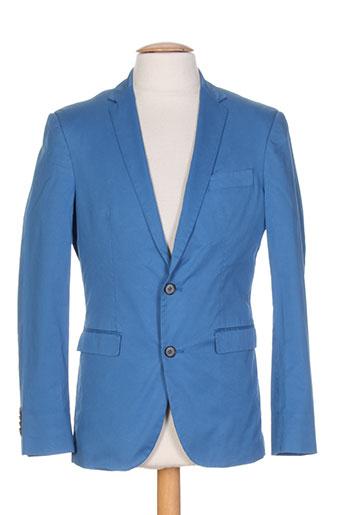marchand drapier vestes homme de couleur bleu