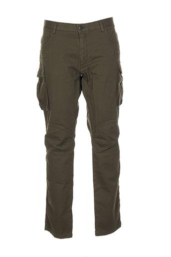sisley pantalons homme de couleur vert