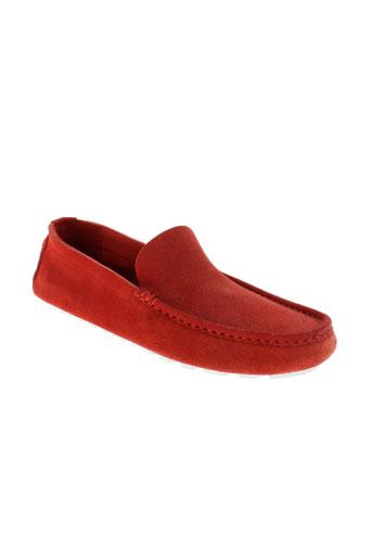 kenzo mocassins homme de couleur rouge