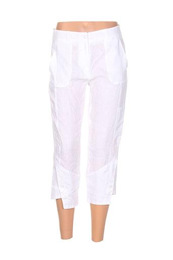 emmanueli pantacourts femme de couleur blanc