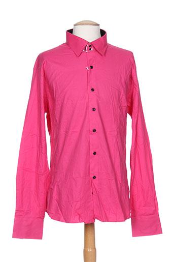 jeel chemises homme de couleur rose