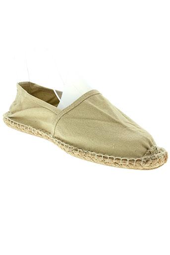 reservoir et shoes espadrilles homme de couleur beige