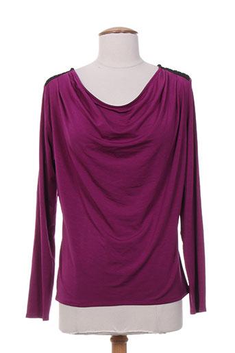 lo! les filles chemises femme de couleur violet