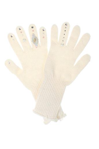 daniela et dallavalle echarpes et gants femme de couleur blanc