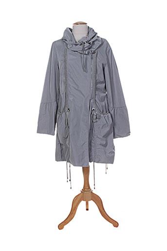 double jeu manteaux femme de couleur gris