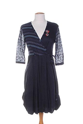 double jeu robes femme de couleur bleu