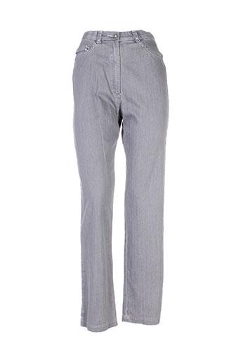 christine laure pantalons femme de couleur gris