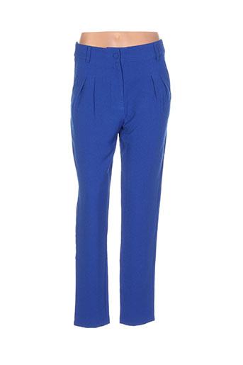 darling pantalons femme de couleur bleu
