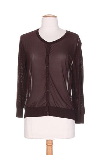 my collection gilets femme de couleur marron