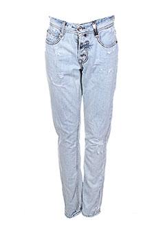 Jeans boyfriend bleu HIGH pour femme