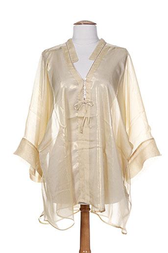 high tuniques femme de couleur beige