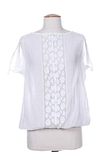 high chemises femme de couleur blanc