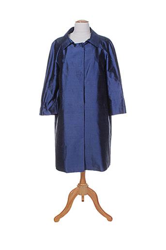 Manteau long bleu ALBERTO BIANI pour femme