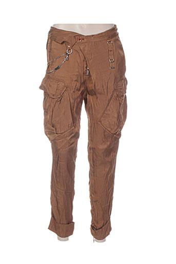 Pantalon 7/8 marron HIGH pour femme