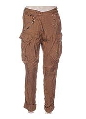 Pantalon 7/8 marron HIGH pour femme seconde vue