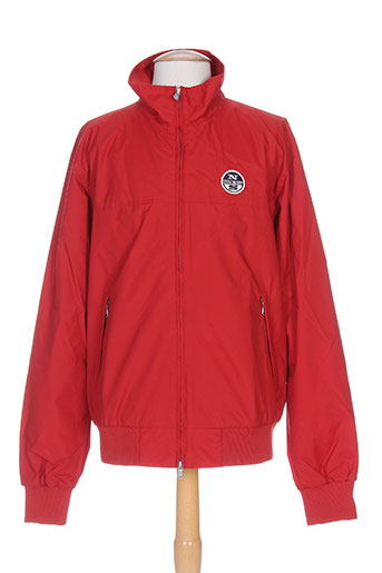 north sails manteaux homme de couleur rouge