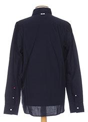 Chemise manches longues bleu SLAM pour homme seconde vue