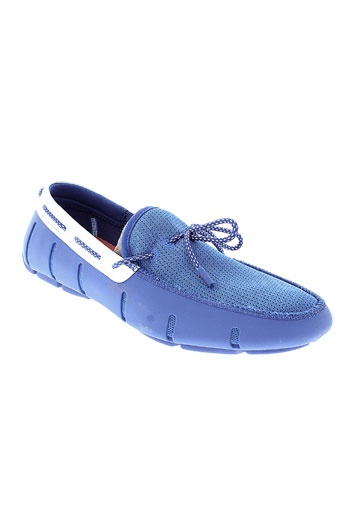 swims mocassins homme de couleur bleu