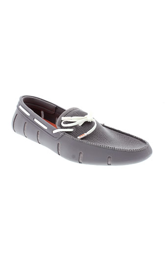 swims mocassins homme de couleur gris