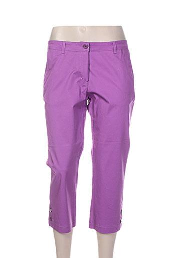 costura 40 pantacourts femme de couleur violet