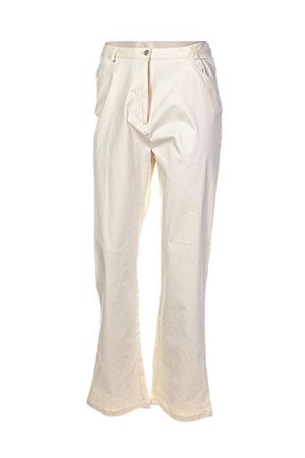 Pantalon casual beige ATTENDUE QUELQUE PART pour femme