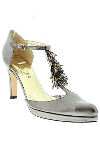 azuree chaussures femme de couleur gris